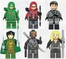 6pcs/lot Decool 0232-0237 Super Heroes Avengers Minifigures Green Arrow Bricks Blocks Action Baby Toys