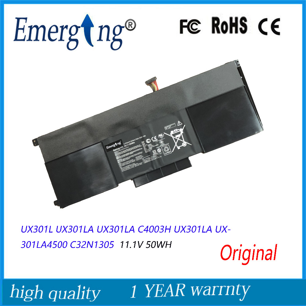 Original 11.1V 50Wh  New Laptop Battery C32N1305  For ASUS Zenbook UX301L UX301LA UX301LA C4003H UX301LA UX301LA4500
