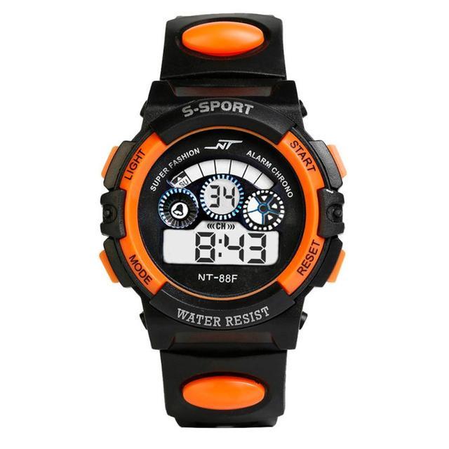 Impermeabile Mens Boy Quarzo Digitale LED Alarm Data di Sport Orologio Da Polso Dropship jun27