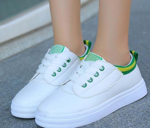 Mocassins Quatre Rond Femmes forme Blanc Chaussures Plate Bout Lace Occasionnelles Up Mode Plates Sneaker xq706wBvq