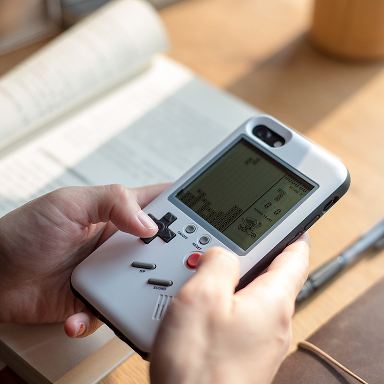 MLR GB Gameboy Tetris Casse Del Telefono per il iphone X 6 più 6 s 7 7 più 8 8 più Giochi Blokus Console di Gioco Copertura Della Protezione Regalo