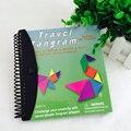 150 240 Головоломки Магнитные Tangram Игрушки Дети Дети Подарок Вызов IQ Математические Книги Развивающие Книга Магии