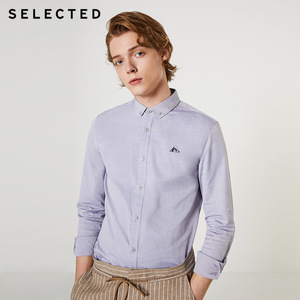 Image 2 - SELECTED Mens Regular Slim Fit Business Casual Embroidered Long sleeved Shirt S