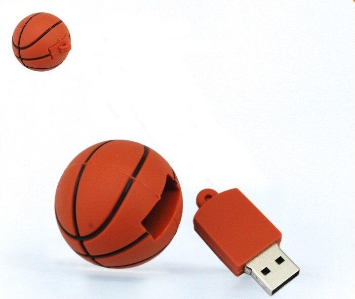 100% real capacity 16G flash drive usb flash drive Cartoon basketball USB 2.0 Flash Memory Pen Drive Stick pendriveping S309