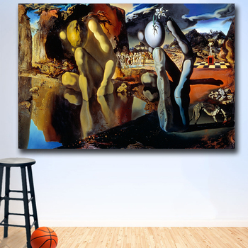 The Metamorphosis of Narciso oil Painting by Salvador Dali Printed on Canvas 3