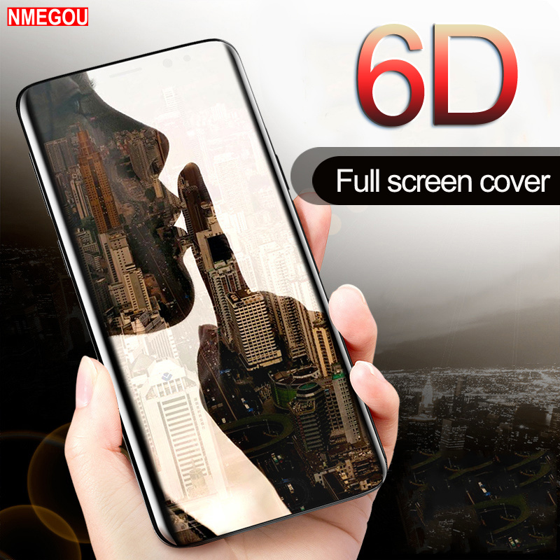 6D Curved Glass Full Cover Case for Samsung Galaxy S8 S9 Plus S6 S7 Edge Note 8 9 Screen Protector Phone Cases Capa Accessories