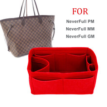 2e046ac1d3f7 NeverFull PM MM GM Felt Cloth Insert Speedy Bag Organizer Makeup Handbag  Organizer Travel Inner Purse