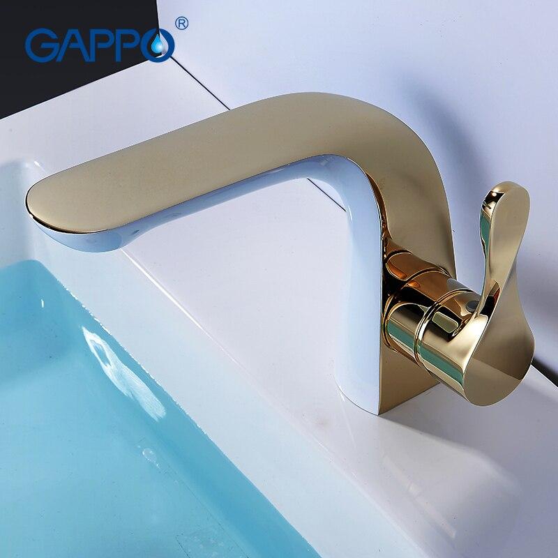 GAPPO Bassin Robinets blanc cascade salle de bains robinet l'eau du bain robinets bassin évier robinet robinets mélangeurs pont monté