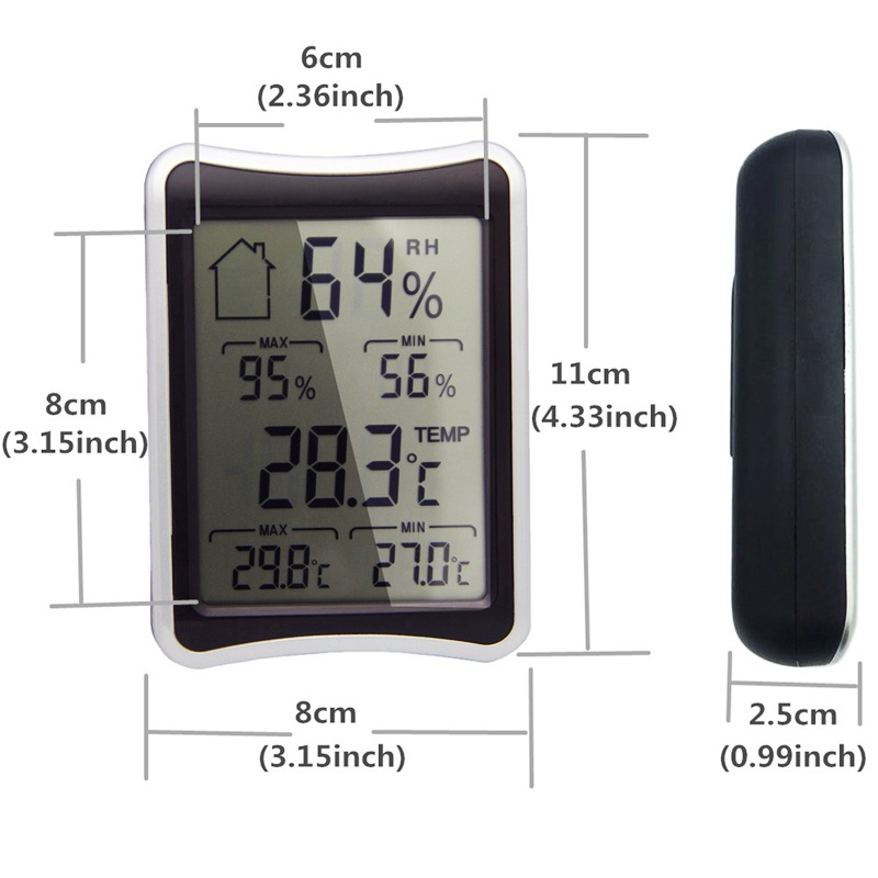Temperature and humidity meter home office pet breeding memory with screen display electronic thermometer and hygrometer in Temperature Gauges from Home Garden