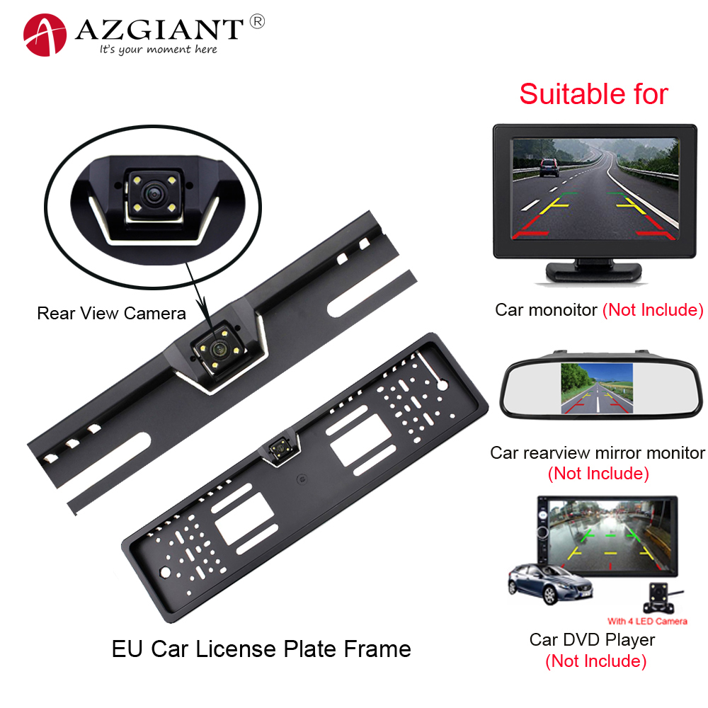 HD Night Vision 8 IR US License Plate Frame Car Backup Reverse Camera 10m Cable