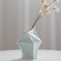 Modern Simple Ceramic Vase Jingdezhen Porcelain Vases Ornaments Creative Art Vase Crafts Furnishings Home Office Decoration