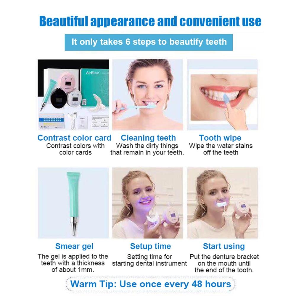 1 Set Led Family Mini Teeth Whitening Dental Cleaner Teeth Whitening Whitening Laser Clean Beauty Instrument Kit in Teeth Whitening from Beauty Health
