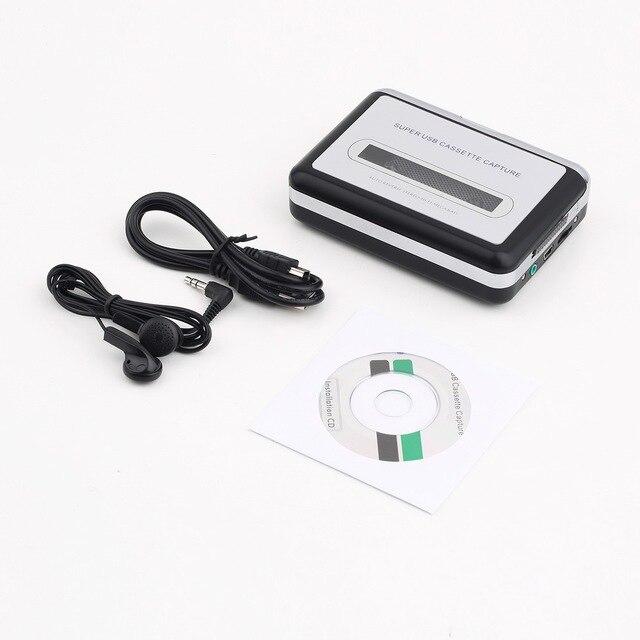 Новый USB2.0 Портативный Лента для ПК Супер Кассеты В MP3 Цифровой Плеер Конвертер Capture Recorder + Наушники Оптовая
