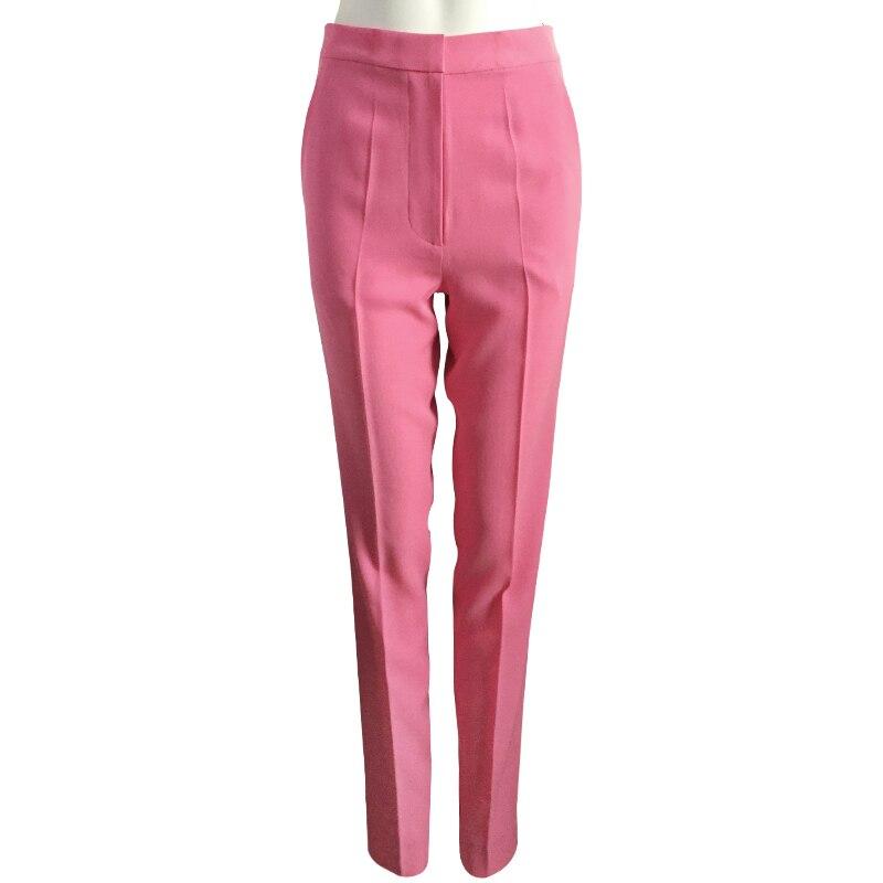 Americana Pantalones Casual A Y Primavera Medida Europea Nueva Pink Moda EYw0qta