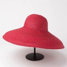 Sombrero de paja de trigo de ala ancha Natural para mujer, sombrero de Sol de ala grande real Ascot Derby, artesanal, de paja, Base, sombrero de playa de verano