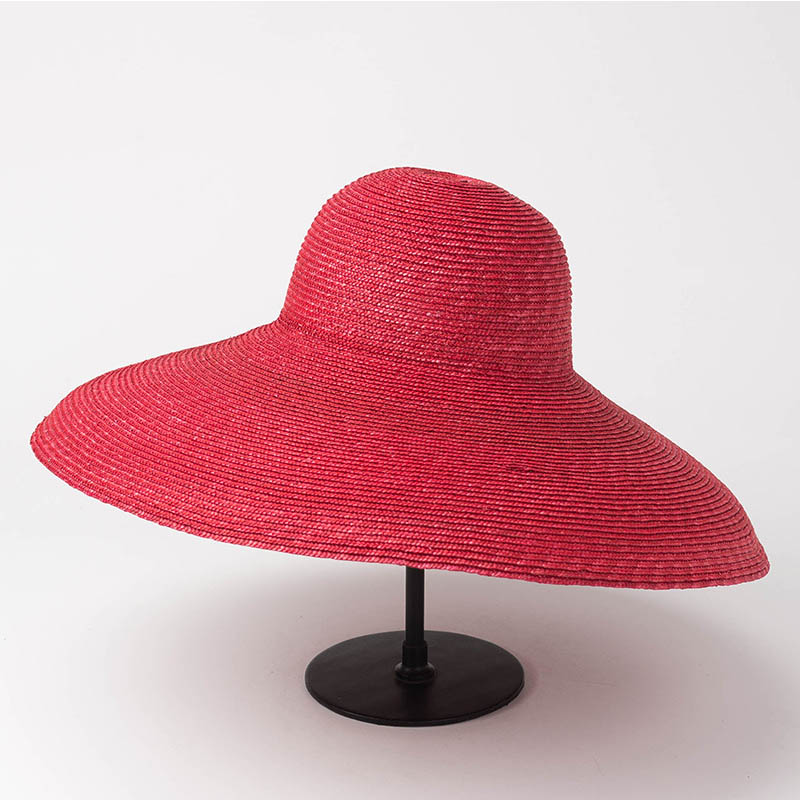 Women Natural Wide Brim Wheat Straw Hat Royal Ascot Derby Big Brim Sun Hat Millinery DIY Craft Straw Hat Base Summer Beach Hat