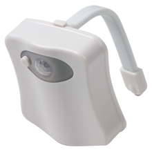 8 Colors Portable Seats LED Light Toilet Lamp Energy Saving Reliable Human Motion Dection Sensor Automatic