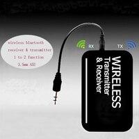 2 ב 1 משדר Bluetooth מקלט Bluetooth אודיו סטריאו המוזיקה 3.5 מ
