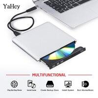YAHEY USB 3,0 Привод Blu Ray BD-RE горелки 2019 внешний CD/DVD-RW/оперативная память/Встроенная писатель 3D плеер Superdrive для ноутбука Apple Macbook PC