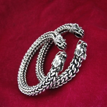 individuality dragon armlet Hmong miao silver engraved minorities tribal bracelet India/Thailand/Chinese folk dance accessories