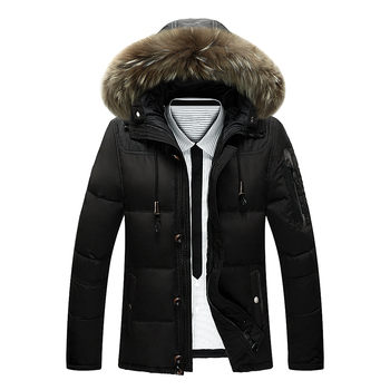 ashion & casual brand Tace & Shark white duck down coat Fur collar men's down jacket thick warm russia winter jacket for men f