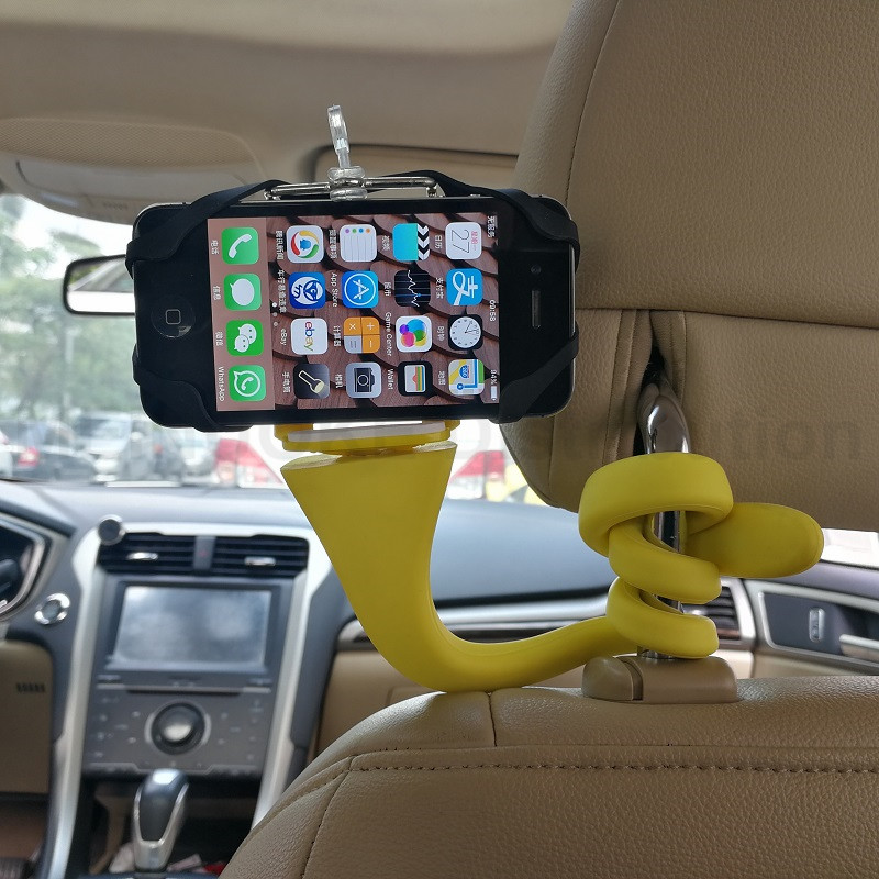 Lerbyee Banana Pod Flexible Clip Mount Car Phone Holder Mini Camera - Cámara y foto