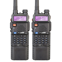 2PCS Two Way Radio Walkie Talkie Baofeng UV-5R Long Battery Ham Radio Station uv 5r Portable Radio Sets