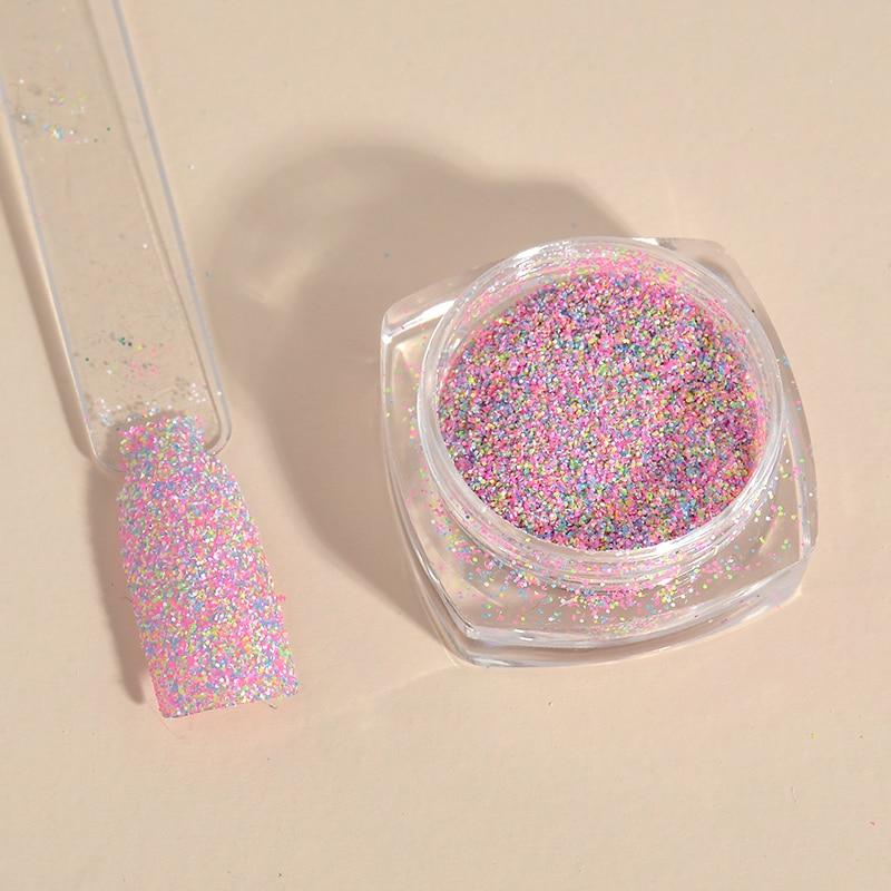 2g New Dazzling Finest Mixed Colors Nail Powder Nail Galitter Nail ...