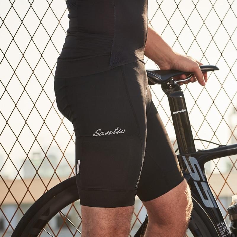 Santic Men Bicycle Shorts Cycling Shorts Coolmax 4D Padded MTB Mountain Bike Shorts Riding Bottoms M9C05105