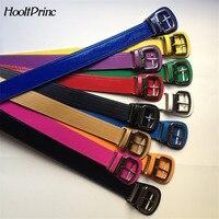 New Fashion Use Multicolor Matte Bright Light Fashion Women Candy Color Narrow Thin Skinny Waist Belt