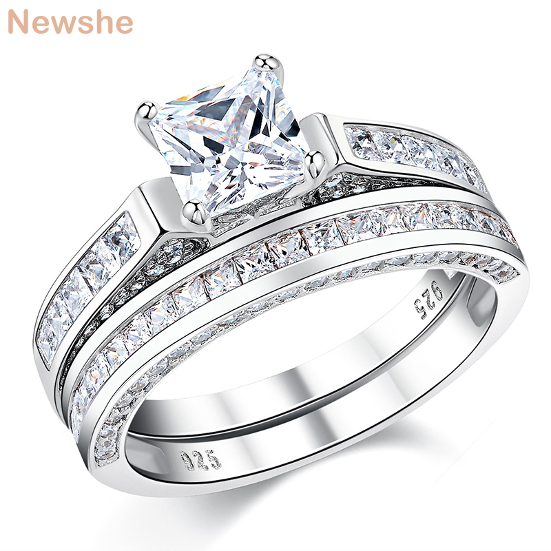 newshe 925 sterling silver wedding rings for women 296 ct