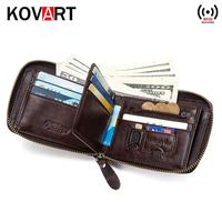 55cb1f59c43854 Wallet RFID Genuine Leather Coin Bag Zipper Purse Wallets For Men With  Zippers Magic Wallet Luxury