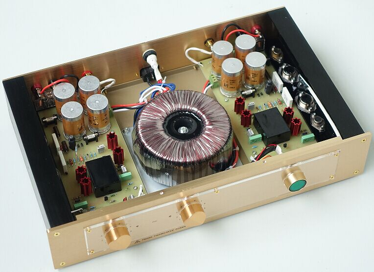 цена на Finished Classic Power Amplifier Audio HiFi Stereo Amp Inspired by FM ACOUSTICS FM300A