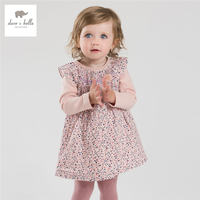 DB3929 Dave Bella Autumn Baby Girl Princess Floral Dress Kids Birthday Clothes Dress Kids Floral Dress