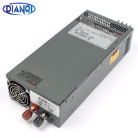 DIANQI 1000W 24V 12V 13.5V 15V 24V 27V 36V 48V 60V 72V 110V power supply 220V 110V INPUT Single Output Switching power supply