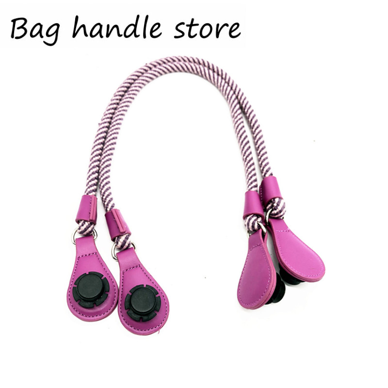 1 Pair Short Long Round Hemp Rope Handle For Obag