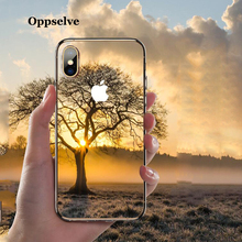 Oppselve 5D Screen Protector Tempered Glass Case For iPhone Xs Max Xr X 8 7 6 6S Plus Luxury Glossy Back Cover iPhoneX Coque