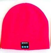 Беспроводной Bluetooth V4.2 Beanie для мальчиков и девочек, мужчин и женщин, вязаная зимняя шапка для наушников, ручной Mp3 микрофон, волшебная музыка, умная шапка+ подарочная коробка - Цвет: Красный