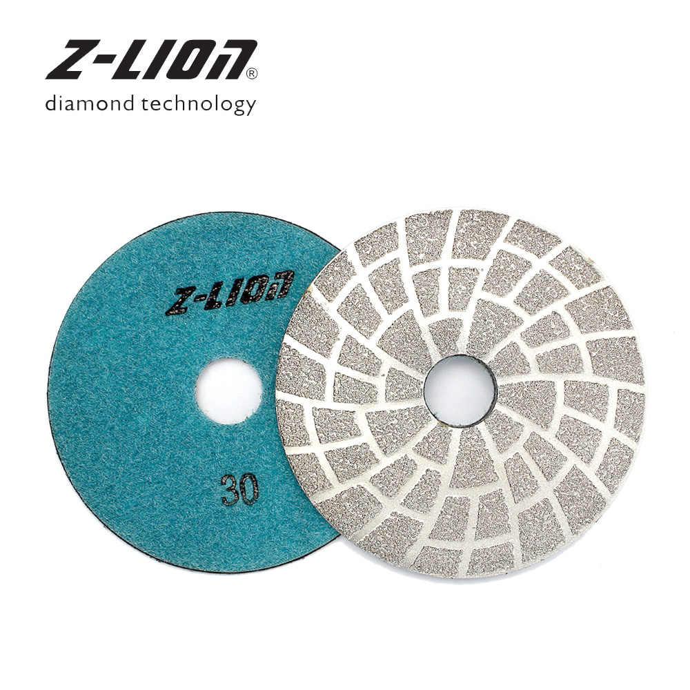 "46+2 PCS 4/"" Diamond Granite Polishing Pad Abrasive Disc Concrete Sander Glass"