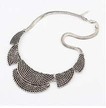 Jewelry Wholesale 2 Colors New Good Quality Vintage Crystal Flower Choker Necklaces For Women Statement Collar Necklace NJ-0156