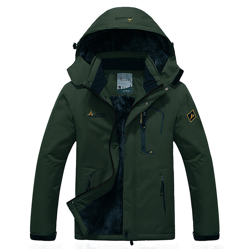 2017 Men Women Winter Inner Fleece Warm 2 Pieces Outdoor Sports Brand Coats Hiking Camping Trekking Skiing Female Polar Jackets