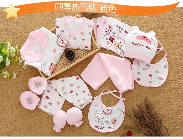 18pcs/set newborn girl clothes 0-3 months long sleeve cotton new born baby boy clothing gift sets suit summer infant clothing 2