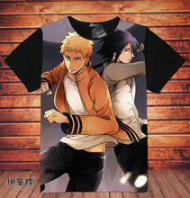 Naruto Full Print Uzumaki Tees Top T Shirt