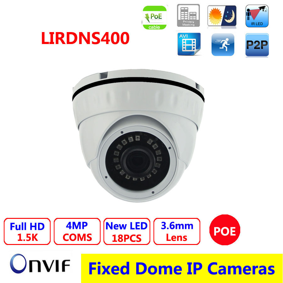 Vandalproof  POE IP camera, IR dome 1/3 OV 4MP High-resolution CMOS Sensor, ONVIF 2.0,CCTV Camera,P2P/ IR Cut Filter, tr vipd121 poe 5 0mp 1 3 2 cmos sensor 20m ir view dome camera hd ip poe camera security camera 2592 1944p 30fps 5 mp ip camera