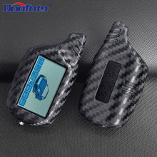 DOOFOTO Newest Car Key Cover Shell Case For Starline B9 B91 B6 B61 A91 A61 C9 V7 Carbon Fiber Styling