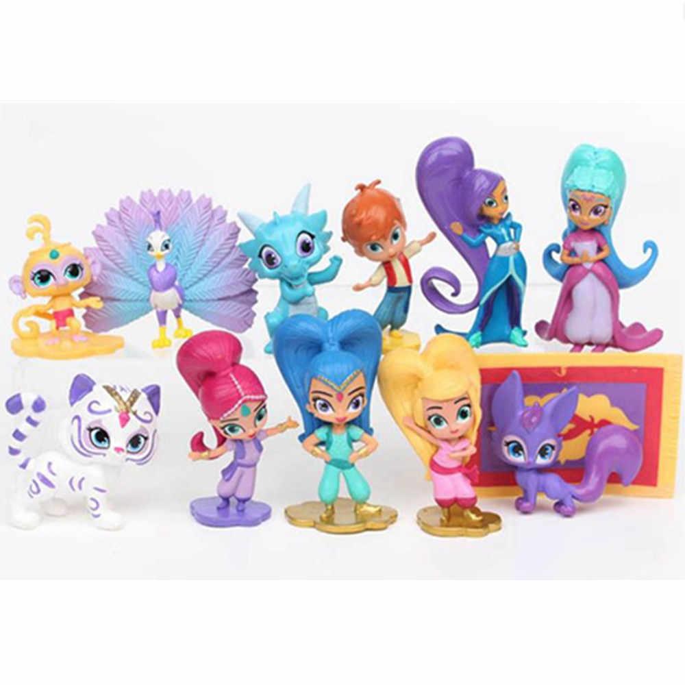 Samira 1 pcs Modelo Irmã Bonito Brilho Shimmer Menina Dos Desenhos Animados Tigre de Estimação Macaco Dolls Figuras de Ação Toy Kid Presente