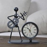 NYAA Clock Alarm Clock Pendulum Living Room Desk Wine Cabinet Decoration Children's Room Lavender Home Decoration