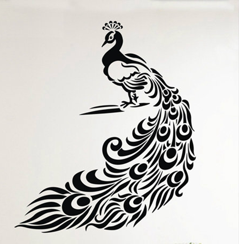 Wonderful Peacock Wall Stickers Art Decor Wonderful Peacock Vinyl Wall Decals For  Home Living Room Decoration Free Shipping In Wall Stickers From Home U0026  Garden On ...