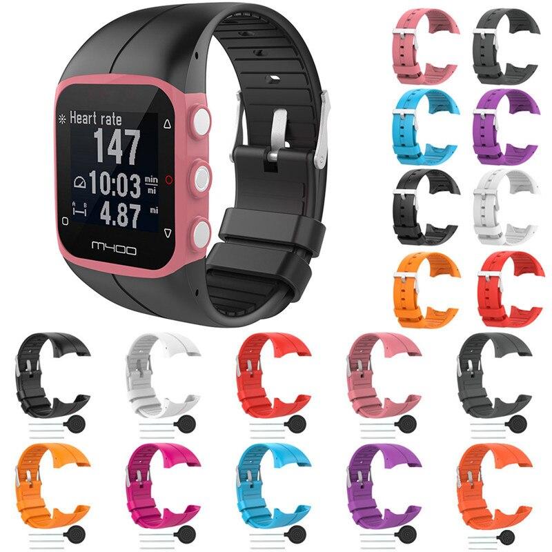 Silicone Remplacer Poignet Bande Pour Polaire M400 GPS En Cours Montre Smart Watch Remplacement Coloré Remplacer Bracelet Pour Polaire M400 M430
