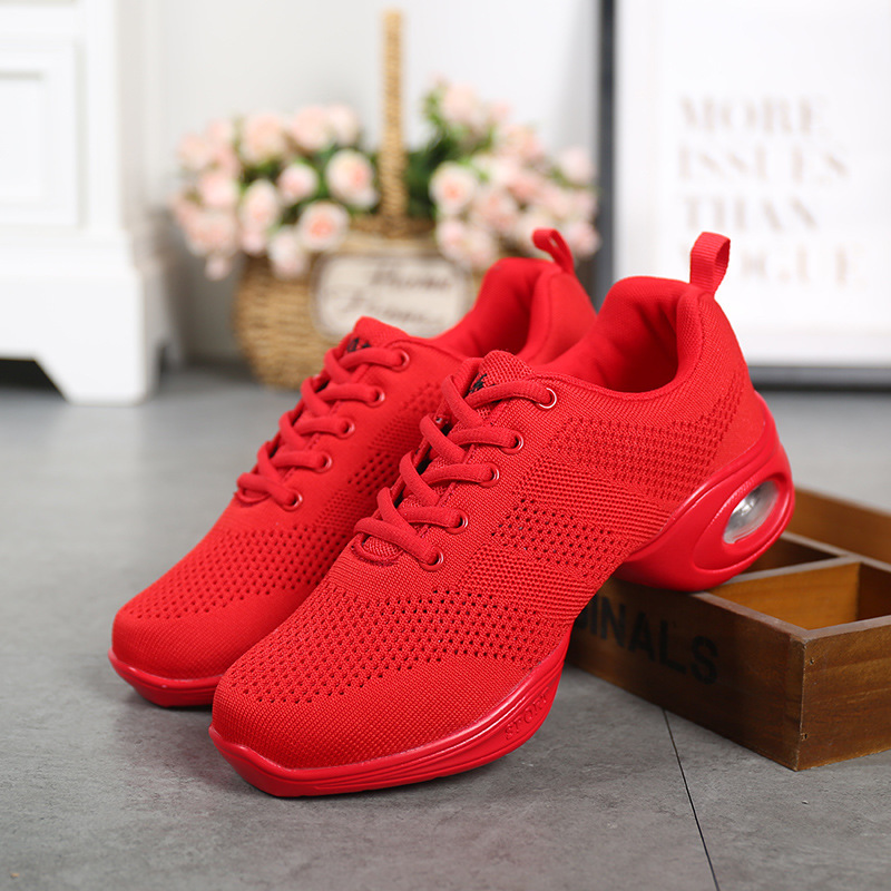 Dance Shoes Hot Sports Feature Soft Outsole Breath Air Cushion Sneakers for Woman Practice Shoes Modern Dance Jazz Shoes цена